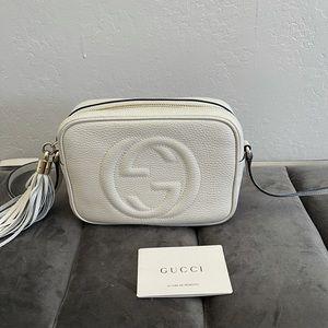 Authentic Gucci Disco Bag in White